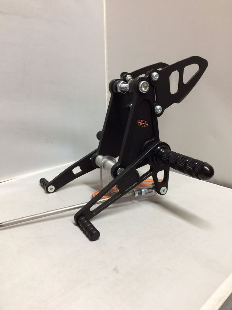 Fixed Rearsets - Honda CB500 (94-03) Race Shift Black.  RSH024-BK.